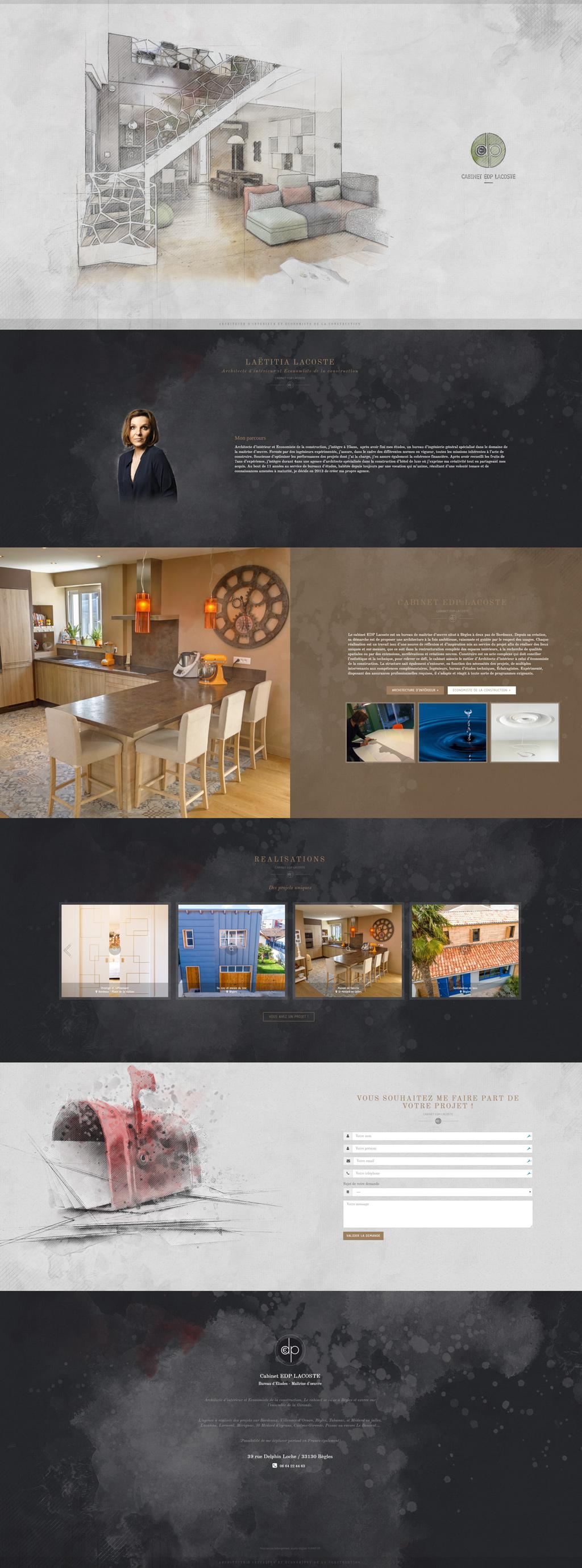 Aperçu des pages du site EDP Lacoste